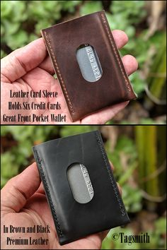 Outsta Mens Wallet Fold Buckle Minimalist Slim Bifold Solid Vintage Business Casual Leather Wallet for ID Credit Card Holder Pockets