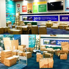 We're all Packed up and Ready when you are! #Boxes #Ready #Prepared #Packaging #Posters #BusinessCards #Surprises #Office #Printing #Imaging #Ink #RemaxWorld2016 #Expo #Summit