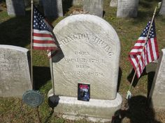 Visiting Washington Irving's grave.  I brought along my old childhood book in honor of the great storyteller.