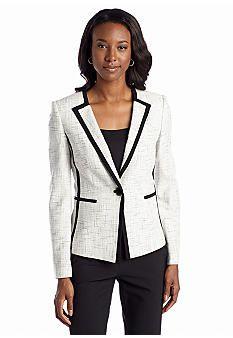 Kasper Plus Size Sparkle Tweed Jacket