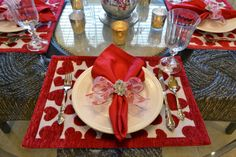 Valentine's Day Place Setting ~ Kristen's Creations
