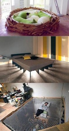 Funny pictures about Unconventional Beds. Oh, and cool pics about Unconventional Beds. Also, Unconventional Beds photos.Unconventional beds 2 some of my favorites from this cool beds postUnconventional beds - Home Technology IdeasUnconventional Beds Share Room Interior, Interior Design Living Room, Living Room Decor, Bedroom Decor, Modern Bedroom, Bedroom Furniture, Kids Bedroom, Cool Furniture, Furniture Design