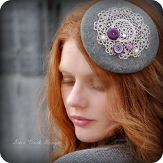 Custom Order Button Fascinator Hat For by GreenTrunkDesigns