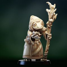 3D Printable Druid shaman Frogfolk by PollyGrimm Old Models, Tabletop Games, Print Pictures, 3d Printing, Printables, Statue, Prints, Board Games, Print Templates