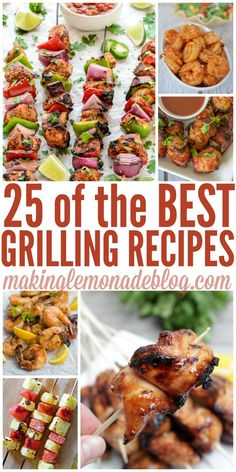 these are the best grilling recipes out there-- can't wait for summer! 25 Best Summer Grilling Recipes (Bake Face It Works) Best Grill Recipes, Healthy Grilling Recipes, Barbecue Recipes, Cooking Recipes, Grilling Ideas, Bbq Ideas, Spring Grilling Recipes, Vegetarian Grilling, Healthy Dinners