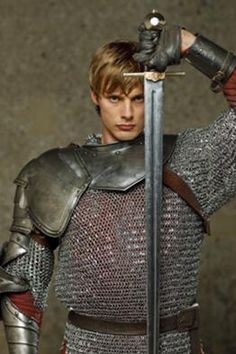 Bradley James as King Arthur.