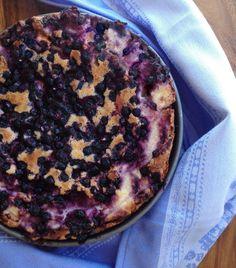 Unelmaa leipomassa: Silkinpehmeää mustikkajuustokakkua