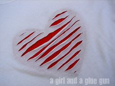 I love this t-shirt with the reverse applique peeking through!  Tutorial on post.
