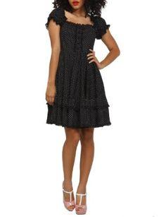 Amazon.com: Hell Bunny Angelica Polka Dot Dress: Clothing