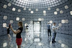 QR Codes Cover Every Inch Of Russia's Pavilion At The Venice Architecture Biennale 2012 Amazing Architecture, Interior Architecture, Retro Interior Design, Interactive Walls, Zaha Hadid Architects, Venice Biennale, Light Installation, Art Installations, Environmental Graphics