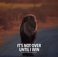 Positive Quotes : QUOTATION – Image : Quotes Of the day – Description Its not over until I win. Sharing is Power – Don't forget to share this quote ! Wisdom Quotes, True Quotes, Motivational Quotes, Inspirational Quotes, Boss Quotes, Best Positive Quotes, Great Quotes, Ever Quote, Color Symbolism