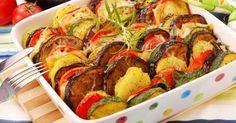 Recette de Tian Croq'Kilos aux pommes de terre et légumes du soleil. Facile et rapide à réaliser, goûteuse et diététique.