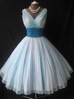 Ball Gown V-neck Tea-Length Chiffon Ruched Sash Light Blue Homecoming Dress