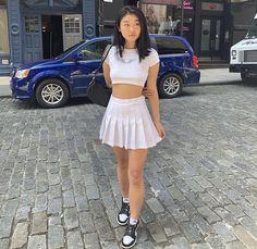 smells like cotton candy White Tennis Skirt, Tennis Skirts, White Skirts, Mini Skirts, Nike Outfits, Girly Outfits, Cool Outfits, Fashion Outfits, Skirt Tumblr