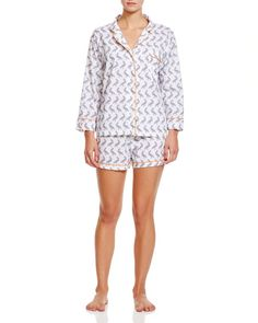 Marigot Collection Slate Pelican Short Pajama Sets