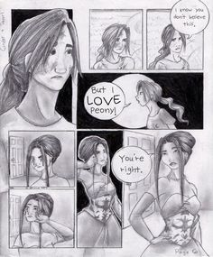 My Cinder + Pearl comic, Page Six based off of a chapter of Cinder, by Marissa Meyer