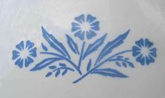 Corningware Cornflower Blue - I want this inked between my boobies :)