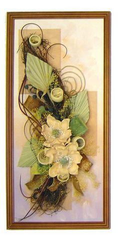 Панно из искусственных цветов на стену своими руками