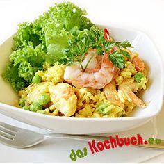 Curry-Reissalat mit Huhn Potato Salad, Cauliflower, Potatoes, Vegetables, Ethnic Recipes, Food, Curry Rice Salad, Salads, Fresh