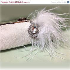# Bridal clutch #wedding clutch # Crystal clutch by BijouxandCouture, $86.25 Wedding Clutch, Bridal Clutch, Crystal Brooch, Swarovski Crystal Earrings, Bridesmaid Clutches, White Clutch, Evening Bags, Wedding Jewelry, Unique Jewelry