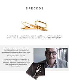 Speckos - Carry your specs the smart way. #glasses #spectacles #style #accessory #men #tiepin