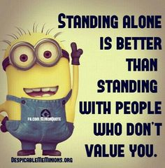 Standing alone...