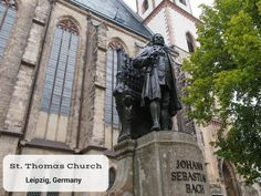 Located in Leipzig's beautiful city center, St. Thomas Church is the final resting place of Johann Sebastian Bach, the legendary German composer. Today, tourists visit the church to hear the St. Thomas Boys Choir and observe church services.