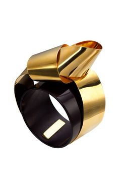Vionnet Plexiglass Sculptural Ribbon Cuff