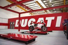 New Ducati showroom in Abu Dhabi love the Colour