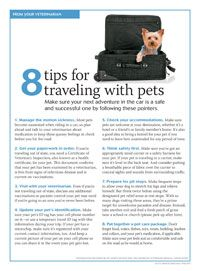 Keep pets safe and comfortable with these travel tips - #Veterinary Economics - dvm360