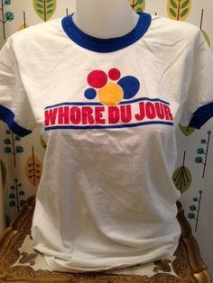 Jane Wiedlin Store - Jane's Whore Du Jour T-Shirt, $40.00 (http://store.janewiedlin.com/janes-whore-du-jour-t-shirt/)