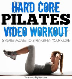 6 Pilates moves for a rock-solid core. At-home #workout from Tone-and-Tighten.com