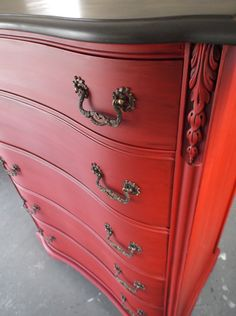 SOLD EXAMPLE....Chalk Painted Dresser/Chest of Drawers in Anne Sloan Paint