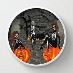 Elfish Skeletons Home Sweet Home Wall Clock by apgme - $30.00