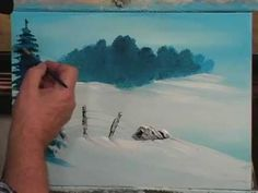 Art Students: This Painting Lesson Shows How To Teach A Child To Paint An Acrylic Snow Scene.Also great for adult beginners! Acrylic Painting Techniques, Painting Videos, Art Techniques, Winter Painting, Winter Art, Winter Snow, Painting Snow, Snow Scenes, Winter Scenes