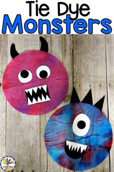 This Tie Dye Coffee Filter Monster is a super fun, process art activity for kids. Try making it with a group of children because no two monsters are alike. # art activities for kids How To Make A Tie Dye Coffee Filter Monster Craft Coffee Filter Art, Coffee Filter Crafts, Coffee Filter Projects, Crafts To Make, Crafts For Kids, Arts And Crafts, Preschool Crafts, Daycare Crafts, Daycare Ideas
