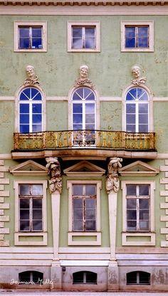 "landscapelifescape: "" Potsdam, Germany Triumvirat by Cedarseed "" Brandenburg Germany, Potsdam Germany, Open Window, Empire Style, Place Of Worship, Balconies, Facades, Windows And Doors, Regency"