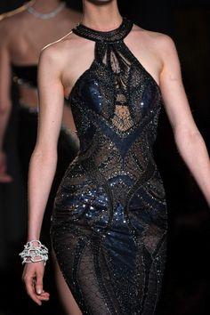 Versace black evening dress. http://www.missKrizia.com