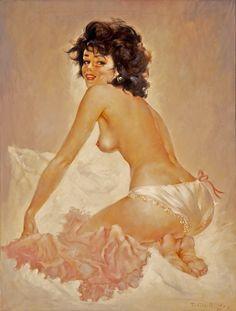 """Julian Ritter """"Girl on knees"""" 1940"""