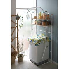 北欧調デザイン洗濯機ラックCN