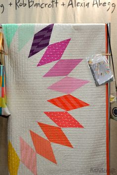 Beautiful detail of one of Alexis Abegg's quilts from the Fall Quilt Market 2014.