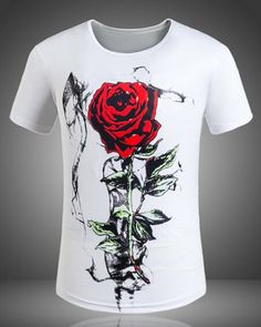 3D Printed T-Shirts You are Loved Wreath Decoration Elements Short Sleeve Tops T