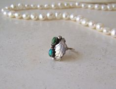 Vintage Turquoise and Jade in Sterling Silver by cynthiasattic