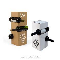 Cardboard Design, Cardboard Display, Cardboard Packaging, Cardboard Crafts, Innovative Packaging, Cool Packaging, Wine Packaging, Food Packaging Design, Packaging Dielines