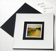 Instructions for matting a polaroid