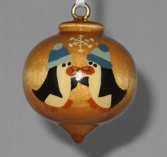 Personalized Christmas Ornament Penguin by TreeTreasuresCanada, $20.95