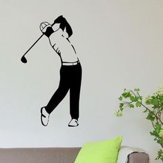 Golf Player Vinyl Wall Art Decal Sticker