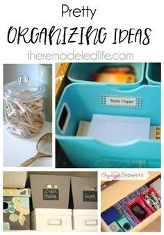 The Remodeled Life: 10 Pretty Organizing Ideas to Jumpstart Your Year! Organizing Ideas, Organization Hacks, Note Paper, Diy Tutorial, Organize, Easy Diy, Clever, Tutorials, Pretty