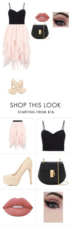 """Untitled #78"" by reka15 on Polyvore featuring Boohoo, Alexander Wang, Charlotte Russe, Chloé, Lime Crime and Concrete Minerals"