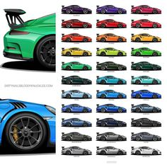 PTSRS collection print. Dirtynailsbloodyknuckles.com Link in profile #porsche #911 #porsche911 #porscheart #991 #gt3 #911gt3 #gt3rs #991gt3 #911gt3rs #rs #gt3 #porschegt3 #991911 #automotiveart #illustration #carart #miamiblue #automotiveillustration #rivierablue #mexicoblue #pts #painttosample #pts911 #ptsrs #signalgreen #lavaorange #rivierablue #guardsred